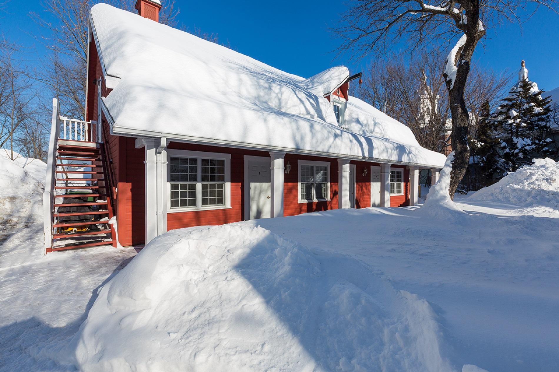 hébergement location appartement Baie-St-Paul vue hiver